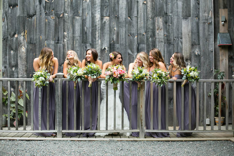 bridal party portraits by ct wedding photographer