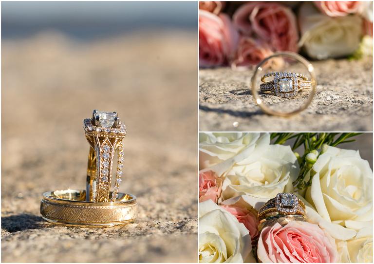 wedding ring set beach