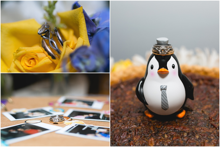 wedding ring set penguin