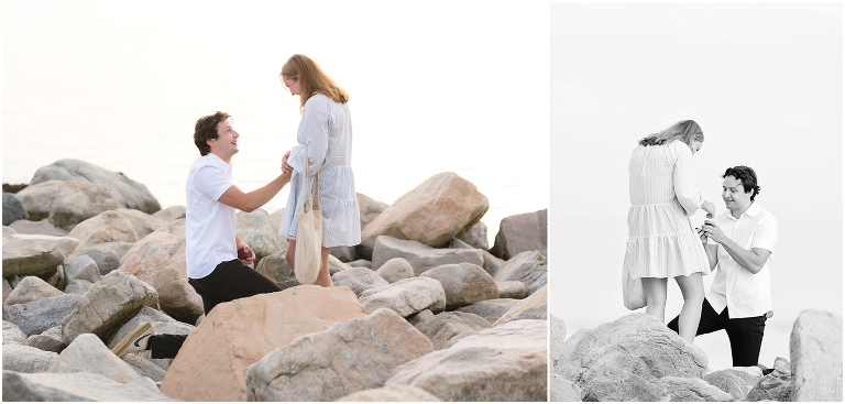 proposal on the rocks