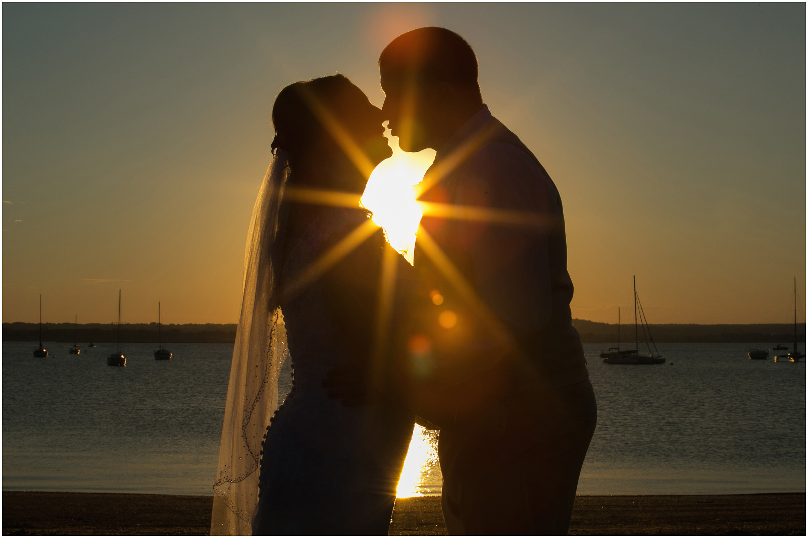 bride and groom sunset anthony's