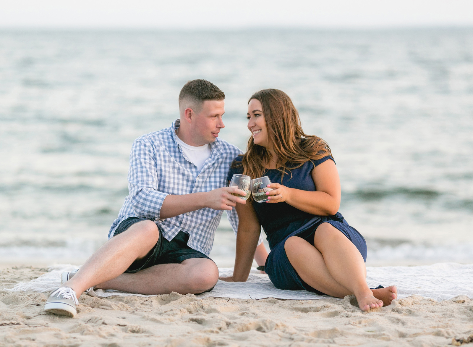 engagement session at a beach